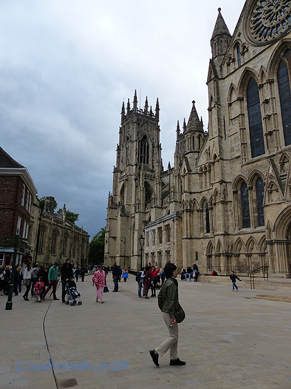 "What a day, and it all began here, at the York Minster.  While in England, I learned that a ""city"" is a place with a cathedral, everything else is a town.  Makes total sense to me!"