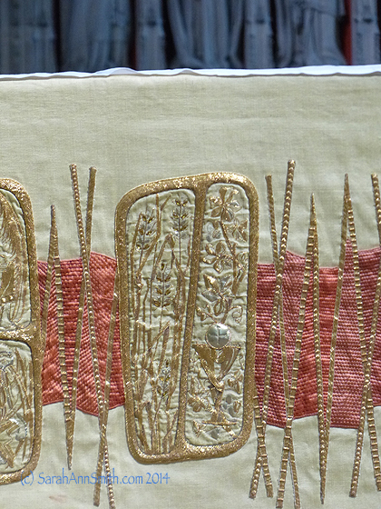 Part of the stitchery on the altar cloth.  England has an incredible tradition of embroidery.