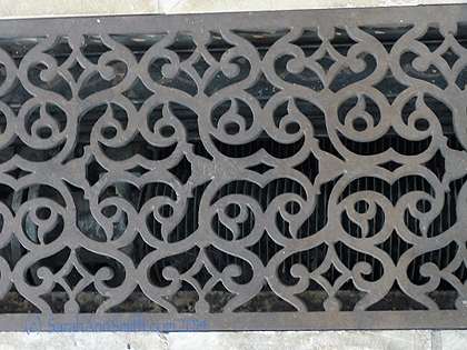 Design inspiration in  a floor grate even!