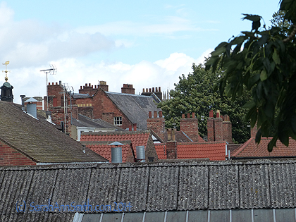 And lovely rooftops on the walk--would make a great quilt!