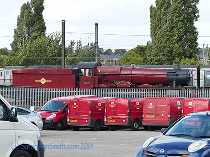 """We were lucky--the """"Hogwarts Express"""" engine was on the sidings at the museum--it is still a working engine so sometimes is out working!"""