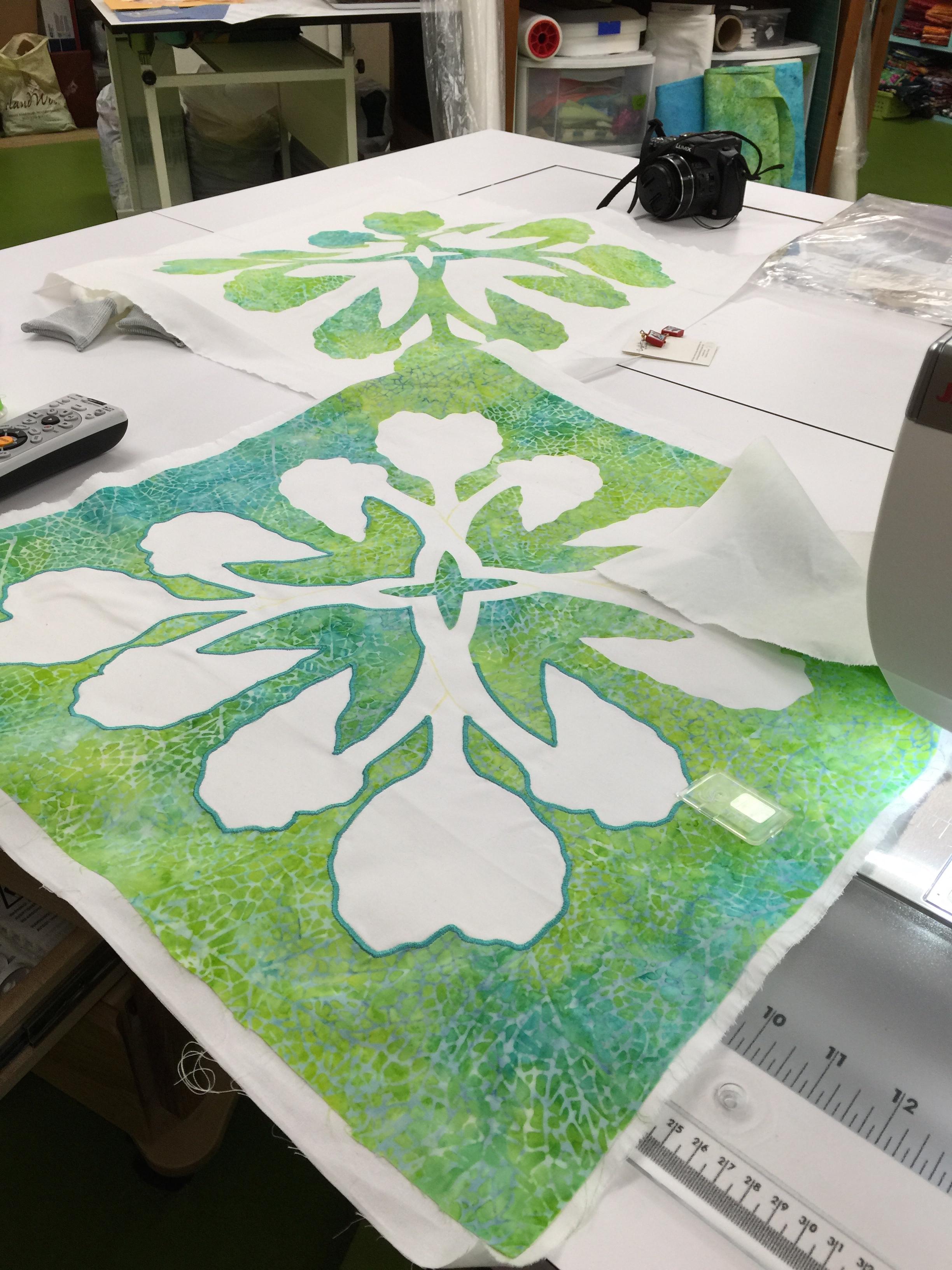 Applique designs for tablecloth -  C Sarah Ann Smith Fused Applique Satin Stitched