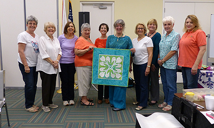 With the ladies of the Gold Coast Quilters of Boca Raton.  I was so busy I think this was the only photo I got that day!