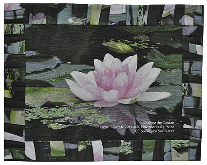 The Pink Water Lily from my ThreadColoring the Flower workshop.