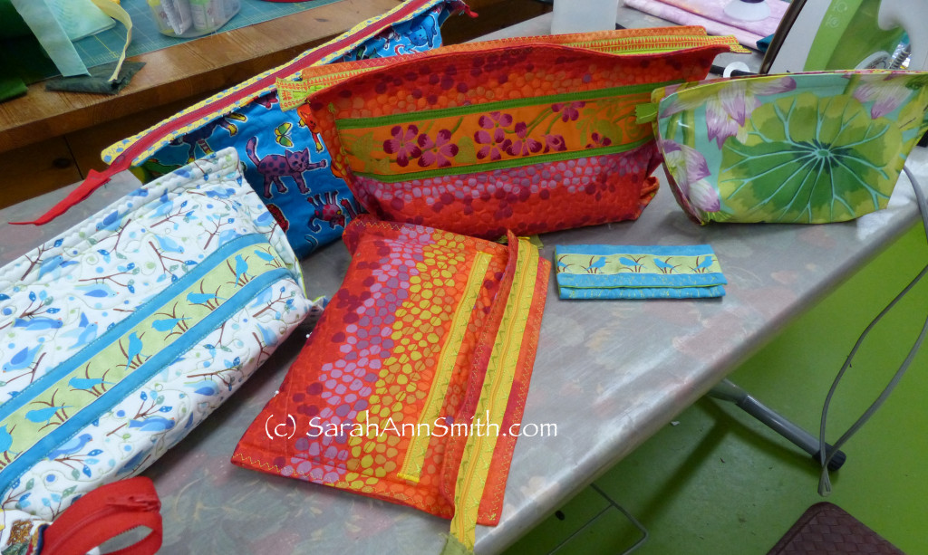 These bags are so easy and fun to make.  They are wonderful to use (in all sorts of sizes), to give as gifts, and can even be turned into iPad or notebook covers.
