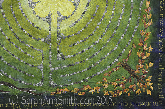 Detail of the lower right corner, showing the autumn tree of life.