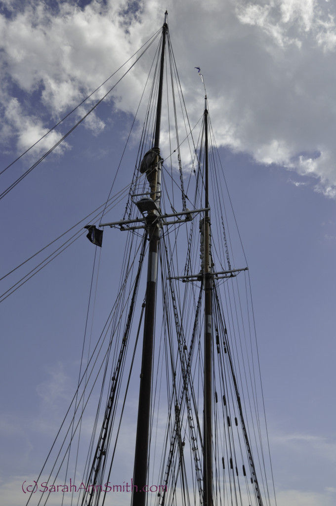 The masts to the tippy top of the Bluenose II.  Essentially no edits.
