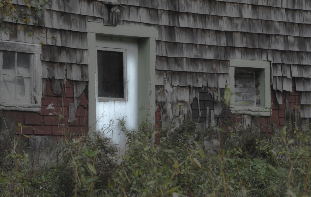"""LOTS of edits and fiddles, including major crunching on Curves and Levels, B&W Dreamscape, etc. Not sure how my neighbor would feel if they knew the side of their barn was an image for """"Decay""""!!!"""