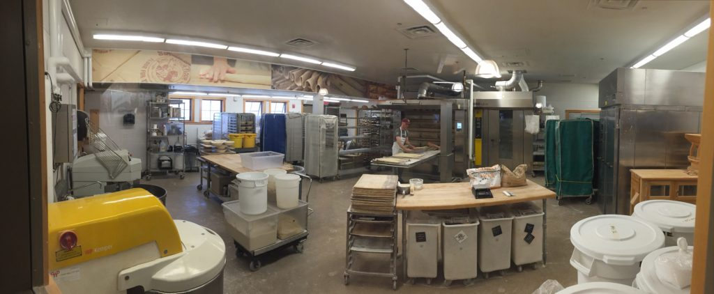 Panorama shot on my iPhone of the bakery