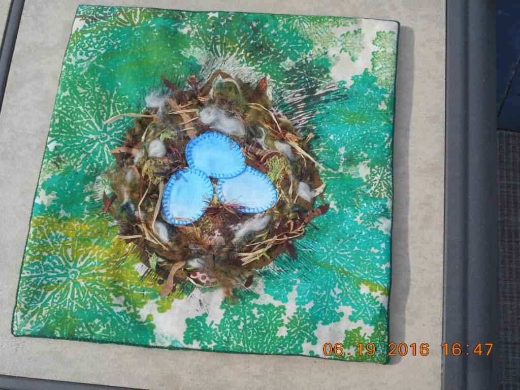 Student 3, Linda Satkowski finished her nest!
