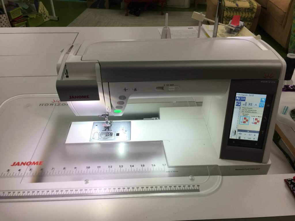My newest sewing love, the Janome 9400!