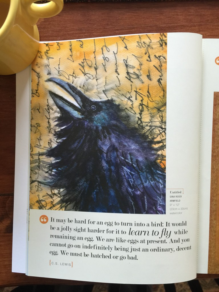 Gina Rossi's crow/raven takes my breath away!