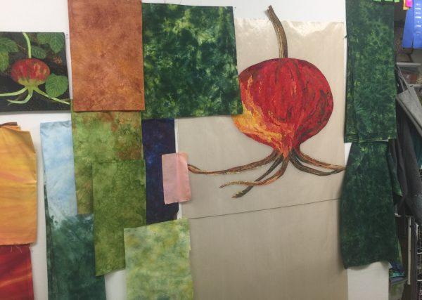 Rose Hips, large version, testing leaf fabrics