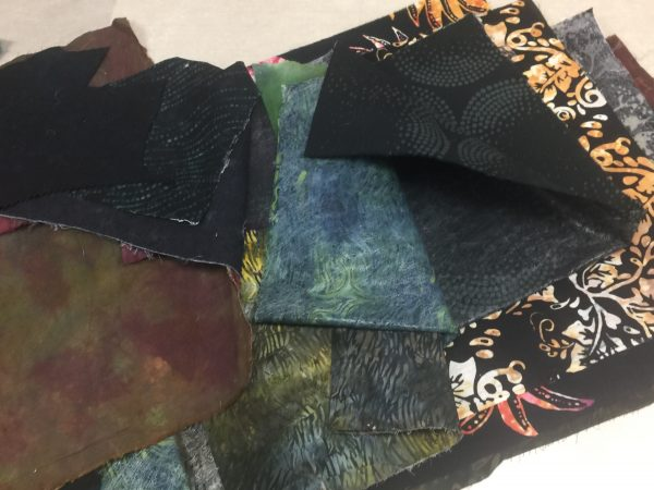 Test drive background fabrics for large Rose Hip quilt